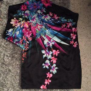 Gorgeous Cache' Silk One Shoulder Dress